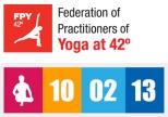 Logos de la Federación y del Día Internacional de bikram Yoga